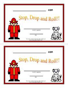 http://www.makinglearningfun.com/themepages/FireStopDropandRollCertificates.htm