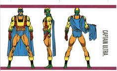 Captain Ultra Marvel Dc, Marvel Comic Universe, Comics Universe, Marvel Heroes, Character Model Sheet, Character Modeling, Character Design, Comic Poster, Comic Art