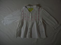Just 4 Kids Girls Size 2T White Top Long Sleeve Everyday Spring 100% Cotton…