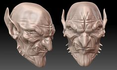 Goblin head 3d