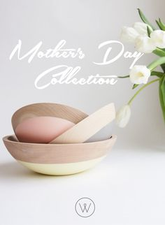 Wooden Nesting Bowls, Beech Wood Bowls, Mother's Day Gift, Rubber dipped bowls