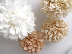 Tissue Paper Pom Pom Kit. So easy to make and pretty.