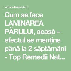 Cum se face LAMINAREA PĂRULUI, acasă – efectul se menţine până la 2 săptămâni - Top Remedii Naturiste Hair Color Balayage, Design Case, Health And Beauty Tips, Healthy Tips, Natural Remedies, Beauty Hacks, Health Fitness, Knowledge, Hair Beauty