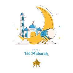 Eid Adha Mubarak, Eid Mubarak Card, Happy Eid Al Adha, Happy Eid Mubarak, Eid Al Adha Greetings, New Year Greetings, Adha Card, Islamic People, Eid Banner