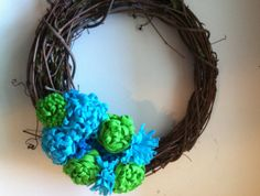 Bright Spring Green and Teal Handmade Felt by redesignaccessories, $17.00