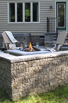 Designed to add the elegance of natural stone to any yard or property, StoneLedge™ Wall is suitable for many applications, including columns, freestanding walls, retaining walls, stairs, planters and terraced patios. StoneLedge is a double-sided, multisized, tapered wall system that possesses the hand-finished look of quarried stone. It is ideal for creative residential or commercial segmental retaining wall projects. Free Standing Wall, Retaining Walls, Sit Back, Columns, Natural Stones, Terrace, Planters, Commercial, Yard