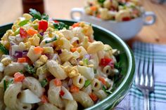 Amish Macaroni Salad - Old Fashioned Recipes  2 c uncooked elbow macaroni, 1 small onion, 3 stalks celery, 3 hard-cooked eggs, 1 small red bell pepper, 1 small carrot, 2 tablespoons dill pickle relish, 2 c creamy salad dressing, 2 1/4 tsp white vinegar, white sugar to taste (1/3 – 3/4 c), 3 tablespoons prepared yellow mustard, 1/4 tsp salt, 3/4 tsp celery seed