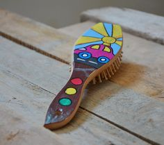 Personalized Wooden hair brush, painted car.  Personalized Wooden hair brush, painted car.Hand painted Wooden comb. Waterproof.  I can write name you want over the brush.  Measures: Length:...