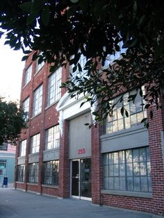 Uriél Dana's art studio in historic warehouse area of Jack London Square, formerly a mattress factory, now artist studios.