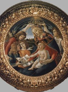 Sandro Filipepi called Botticelli: Picture of Magnificat Madonna - Uffizi Gallery, Florence