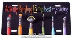 Painting IS the Best Medicine Pattern by Chris Haughey - I've just added bunches of new patterns by Chris to our store... http://www.decorativepaintingstore.com/products.php?cat=Chris+Haughey