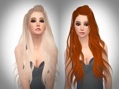 Retexture By Me  Found in TSR Category 'Sims 4 Female Hairstyles'