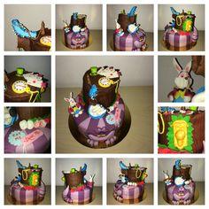 Alice au pays des merveilles Wonderland Alice cake Gateau