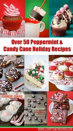 50 Peppermint & Candy Cane Holiday treats