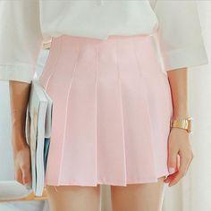 Susi&Rita Spring Skirts Women Korean Sweet Vintage Pink Blue White Girl Pleated Skirt Summer Short Mini Saia Jupes