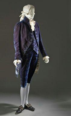 18th century violet men suit