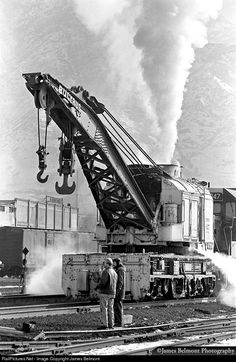 RailPictures.Net Photo: DRGW 027 Denver & Rio Grande Western Railroad Bucyrus 150-Ton Steam Derrick at Provo, Utah by James Belmont