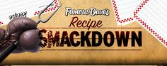 Famous Dave's Recipe Smackdown! FAMOUS DAVE'S RECIPE SMACKDOWN WINNERS Copycat Recipes, New Recipes, Shrimp Grits, Copy Cats, Famous Daves, Smoker Recipes, Entrees, Drink, Food