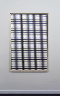 "Winston Roeth (b 1945) ~ ""Large Dark Line Vertical Grid"". | #art #painting #hardedge #abstract #minimalart #conceptualart"