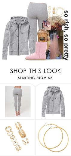 """""""So Rich , So Pretty"""" by melaninprincess-16 ❤ liked on Polyvore featuring Athleta, Forever 21, H&M and UGG Australia"""