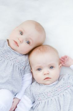 Gorgeous photo twin baby girls.  Danielle Lemon Photography.