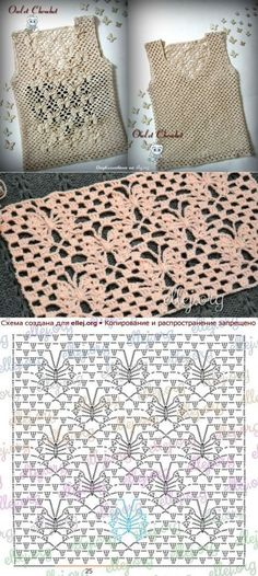 We all need a Little black dress that makes us feel Sexy and feminine…here is my version for you my amazing Crochet Family! Get your yarn and your crochet hooks and make it shine! Crochet Diagram, Crochet Chart, Filet Crochet, Crochet Motif, Crochet Lace, Crochet Dresses, Crochet Blouse, Crochet Clothes, Crochet Stitches Patterns
