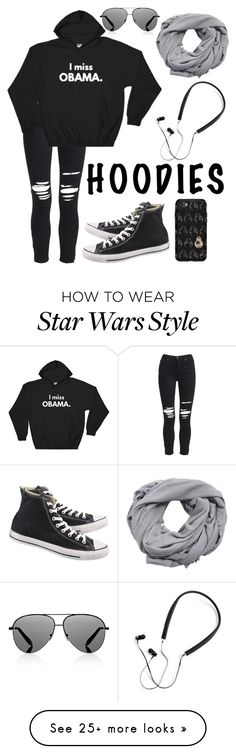 """Hoodie"" by a-random-fandom on Polyvore featuring AMIRI, Converse, OtterBox, Polaroid, MANGO, Victoria Beckham and Hoodies"
