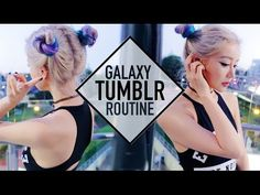 Space Buns Tumblr School Routine Makeup Hair and Outfit ☪ Wengie - YouTube