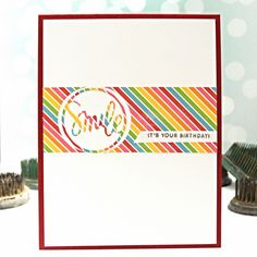 Smile! It's Your Birthday! by Jennifer Ingle using the Simon Says Stamp June Card Kit #birthday #justjingle #simonsaysstamp #sssck #cards #diy