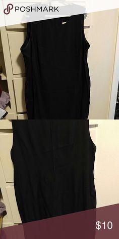 """Little black dress"" Black sleeveless sheath dress. Zips up the back.   24WP fitting image Dresses"
