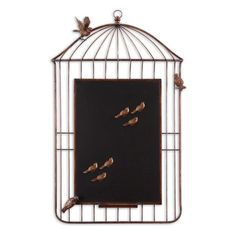 I pinned this Peel and Stick Bird Cage Chalkboard from the Stylish Desk event at Joss & Main!