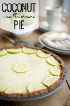 This pie is SOOOO good and takes about 5 minutes to make - no joke! Bonus? The filling is gluten free and dairy free! Delicious and Simple Coconut Vanilla Cream Pie Recipe