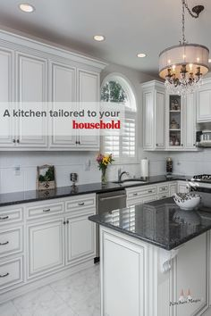 Custom kitchen cabinets handcrafted and built to order from our cabinet shop. Made in the USA and backed by our Lifetime of Home Ownership Warranty. White Kitchen, Dream Kitchen, Simple Kitchen, Household, Kitchen Cabinets, Cabinet, Kitchen Magic, Cabinetry, Home Decor