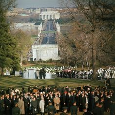 John F. Kennedy's Funeral: Rare & Unpublished ~ A horse-drawn caisson bears the body of President John F. Kennedy into Arlington Cemetery, November 25, 1963.