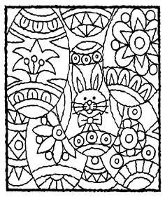 Can you find the Easter bunny? Get this free printable  geometric coloring page which your students will love!