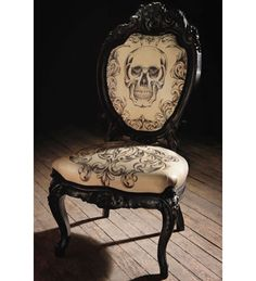 Gothic Furniture #11 - Gothic Skull Chair