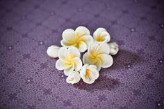 Frangipani Flowers #fondant #flowers #baking