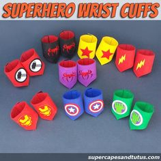 Superhero Wristband/ wristcuffs/ armbands   Look at these awesome wristbands I found. Great for gifts, party favors and that imagination fun!!