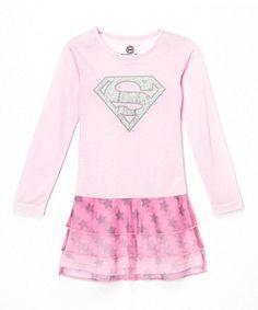 Light Pink Supergirl Nightgown - Toddler & Girls by Superman #zulily #zulilyfinds