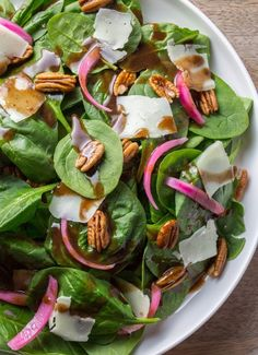 Recipe:  Spinach Salad with Warm Brown Butter Dressing