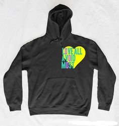 Crumbled Thoughts: Love All. Avoid Most. Hoodie, $45.00