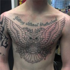 owl chest piece. More