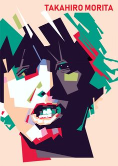 Takahiro Morita Colorful poster by from collection. By buying 1 Displate, you plant 1 tree. Takahiro Morita, Pop Art Artists, Pop Art Portraits, Poster Prints, Art Prints, Print Artist, Cool Artwork, Famous People, Metal