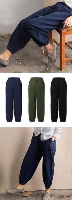 US$20.39 + Free shipping. Size: M~5XL. Fall in love with elegant and casual style! Plus Size Casual Women Elastic Waist Bunched Trousers.