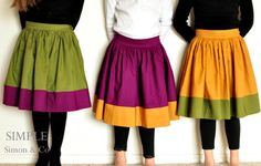 Sewing Secrets: 10 Super Easy Skirts  There are some awesome ideas for me and the girls.