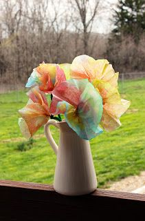Coffee Filter Flowers - grandma gift for Mother's Day?