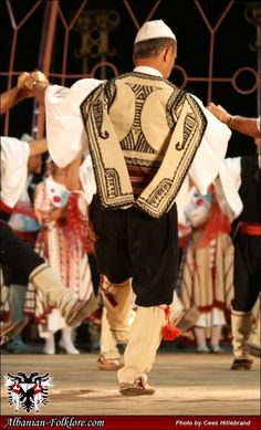 old Albanian costume