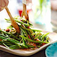 Green Bean & Shallot Salad | http://www.rachaelraymag.com/recipe/green-bean-shallot-salad/