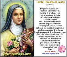 Gifs de oraciones: Oraciones a Santa Teresita del Niño Jesús