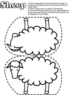 Sheep-for-coloring-6 | Free Coloring Page Site Lost sheep template